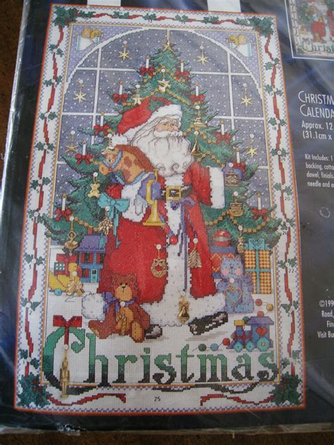 bucilla counted cross stitch christmas advent calendar kitsantacharms ebay