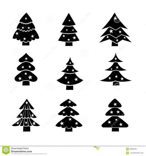 silueta de árbol de navidad 193 rbol de navidad adornado ejemplo negro de la silueta ilustraci 243 n vector ilustraci 243 n de