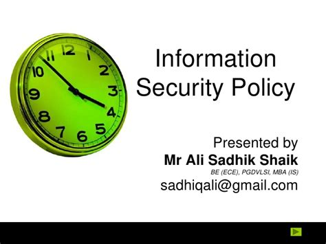 Information Security Mba by Information Systems Policy