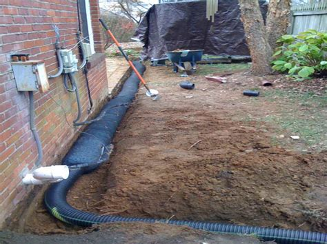 installing a french drain in backyard miscellaneous french drain cost reviews backyard