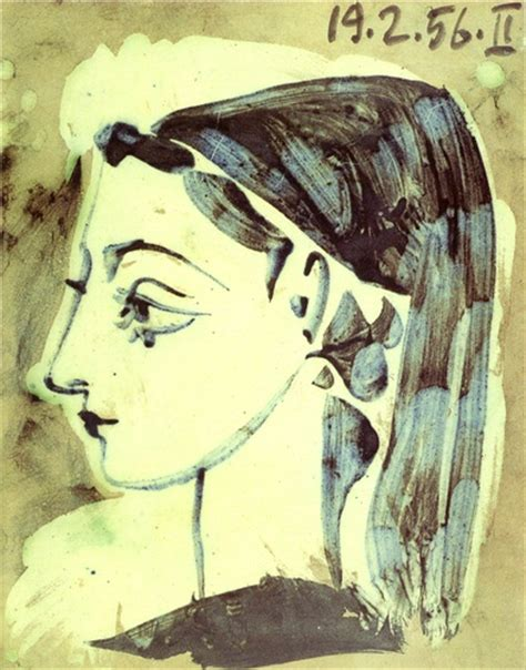 picasso paintings of jacqueline profile of jacqueline by pablo picasso 1881 1973 spain