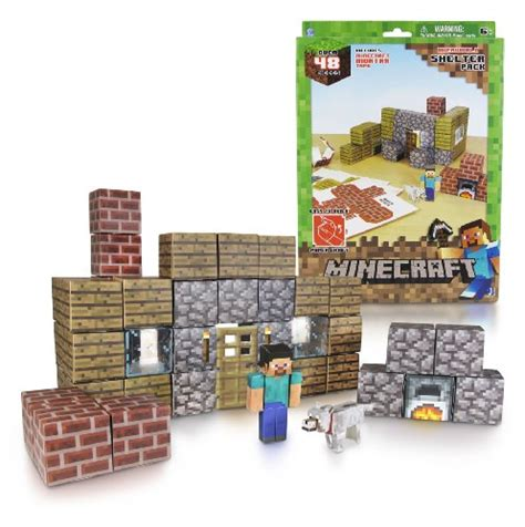 Minecraft Papercraft Set - minecraft papercraft shelter set new free shipping ebay