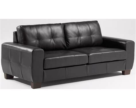 Black Sofa Leather Simple In Modern Living Room Sets Uses Black Leather Couch