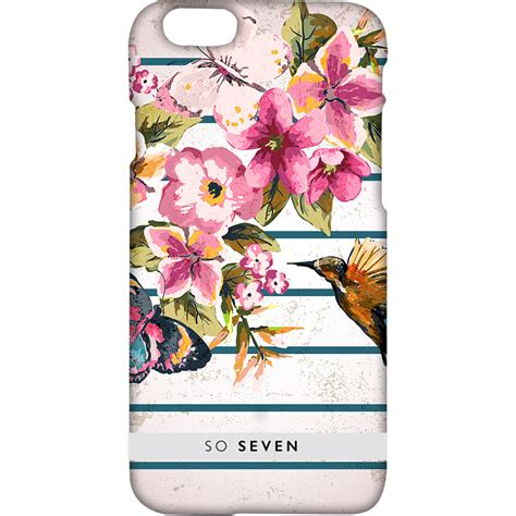 Casing Hp Personal Design Flower And Birds phone cases summerchic flowers birds and stripes back cover apple iphone 6 quickmobile