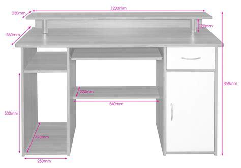Computer Desk Measurements Alphason Albany Aw12362 Desks
