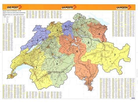 Post Schweiz Brief Europa Schweiz Plz Karte L 228 Nderkarten Landkarten Landkarte Poster