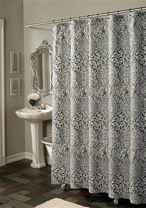 belk shower curtains m style istanbul blue shower curtain online only belk