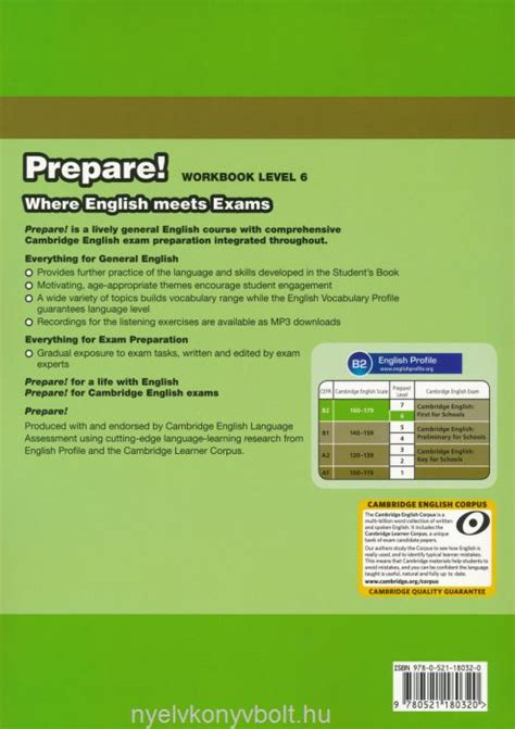 cambridge english prepare level 0521180368 cambridge english prepare workbook level 6 with downloadable audio nyelvk 246 nyv forgalmaz 225 s