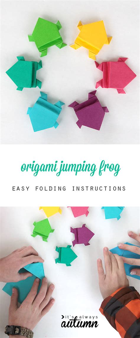 How To Make Paper With Children - origami jumping frogs easy folding it s