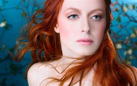 natalie brown hair blue eyes girl women redhead blue eyes digital art wallpapers hd