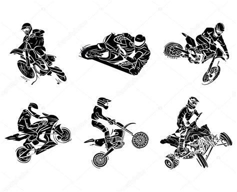 motos tatuajes colecci 243 n vector de stock 65742301