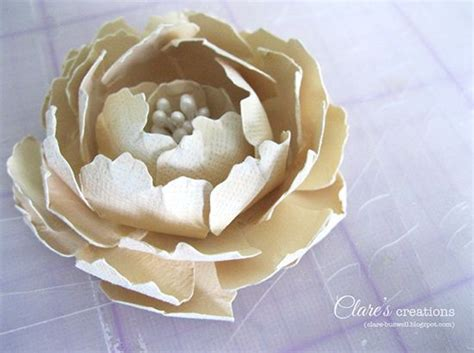 big paper flower making tutorial paper flower tutorial large rose with stamen clare s