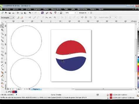 tutorial membuat logo lg logo de pepsi en corel draw x6 facil y rapido