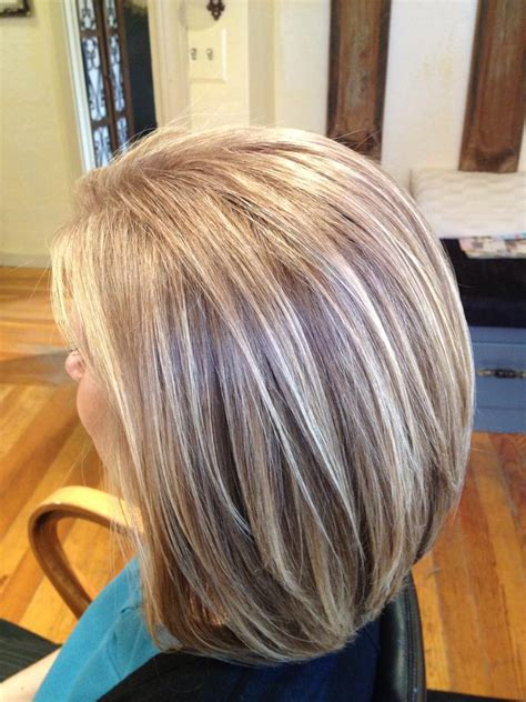 white highlights to blend in gray hair doing lowlights to blend with grey dark brown hairs