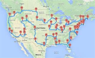 Usa Road Trip Map by Road Trip Randy Olson Calculated The Optimal Trip To U S