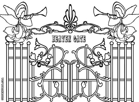 printable heaven images gates of heaven coloring pages