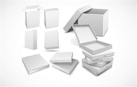 3d packaging box vector templates for your design vector