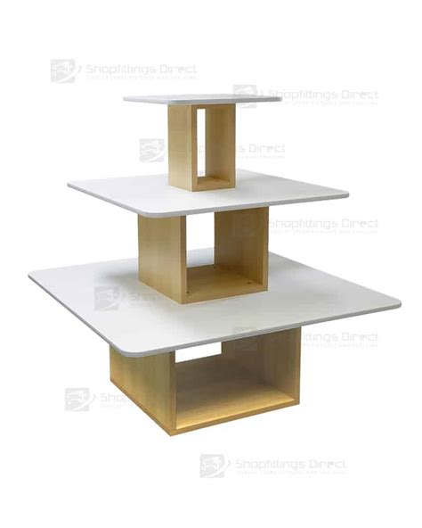 display table square display tables shopfittings direct australia