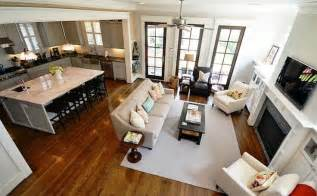 Open Kitchen And Living Room Floor Plans by Design Trend Open Concept Floor Plan Woodways