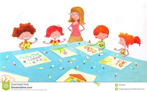 kinder garten kindergarten classroom stock illustration image of pretty