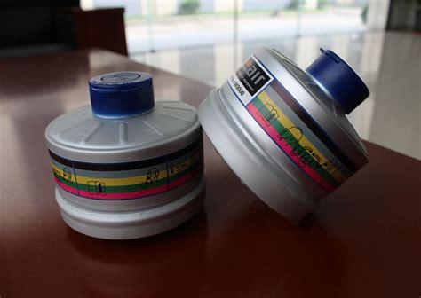 Masker Kimia en141 standar respirator tabung digunakan untuk militer