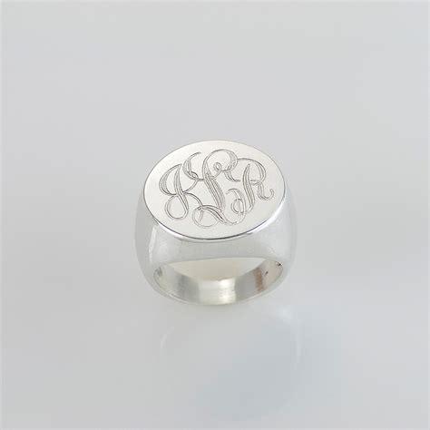 signet engraved monogram ring