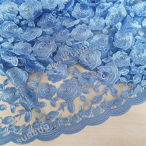 plain sky blue tulle lace net lace fabric cord swiss lace high quality