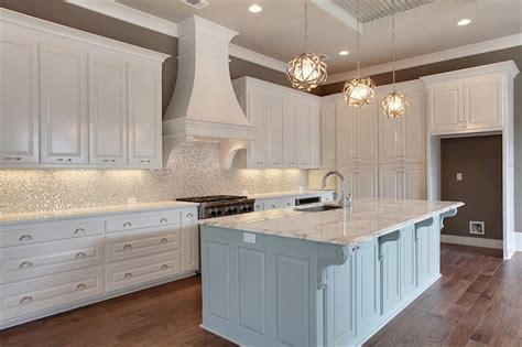 Free Standing Kitchen Islands With Seating For 4 by White And Silver Iridescent Tile Backsplash Transitional