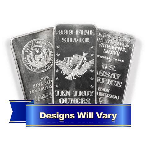 10 troy ounce silver bar price 10 troy oz hallmarked silver bar 999 secondary