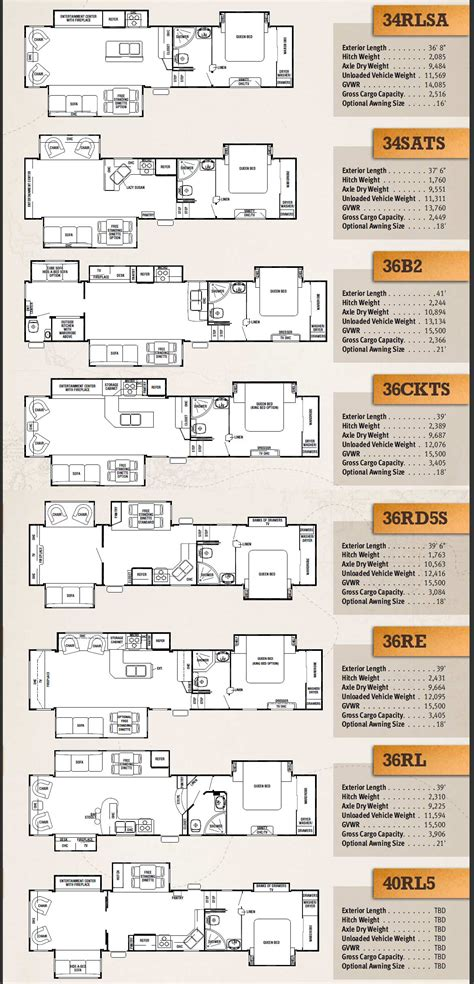 cedar creek fifth wheel floor plans roamingtimes com 2011 forest river cedar creek fifth
