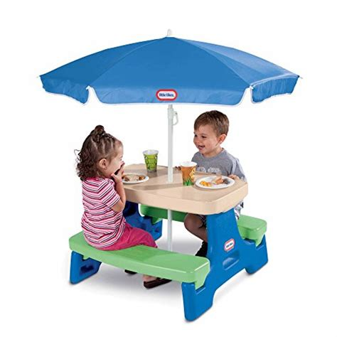 tikes easy store large picnic table with umbrella tikes easy store jr picnic table with umbrella