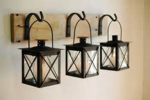home accents wall: black lantern trio wall decor home decor by pineknobsandcrickets