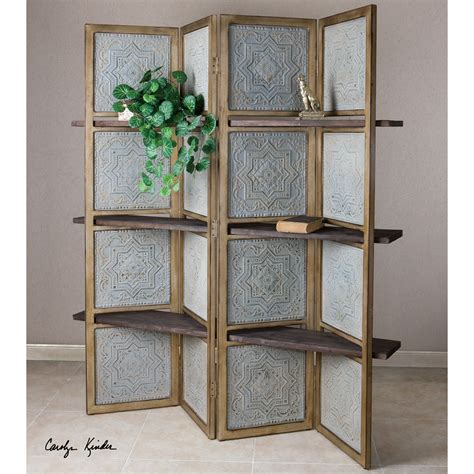 panel room divider uttermost anakaren 71 quot x 70 quot 4 panel room divider