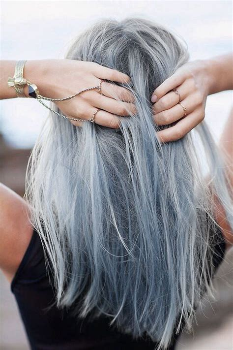 graying blue hair blue grey hair pastel hair pinterest