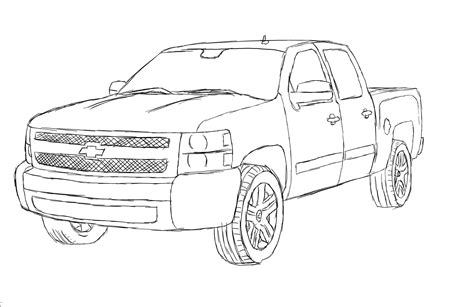 Chevy Truck Drawings by Chevrolet Silverado Drawing Ride A Quot Cart Quot