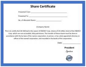 Shareholding Certificate Template by Ordinary Certificate Template