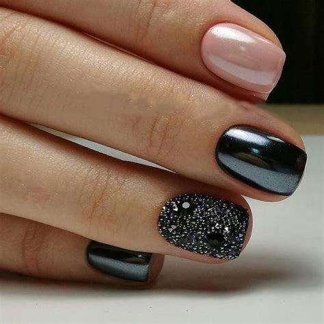 trending black nails art manicure ideas ostty