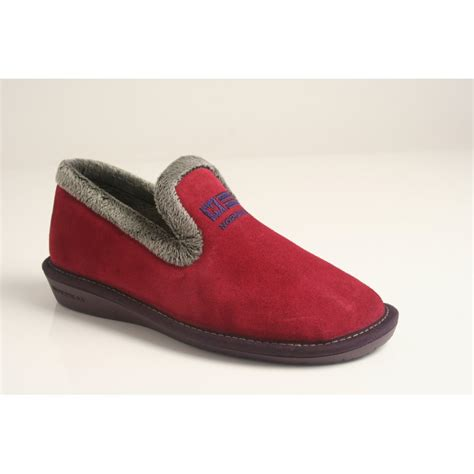 lightweight slippers nordika s style 305 in soft rubi suede leather with