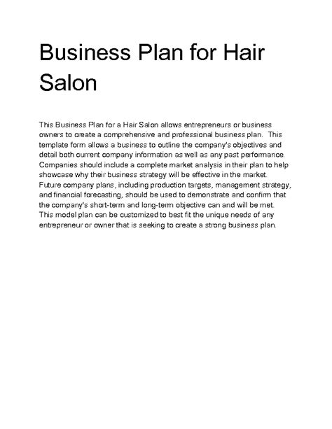the business plan for your beauty salon business plans welcome to docs 4 sale