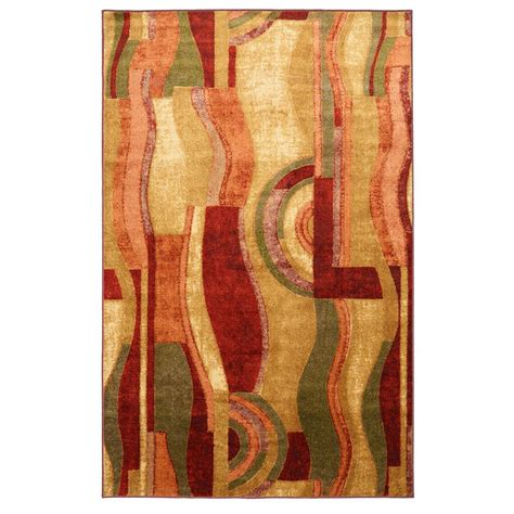 picasso area rug mohawk home picasso wine 7 ft 6 in x 10 ft area rug 002815 the home depot