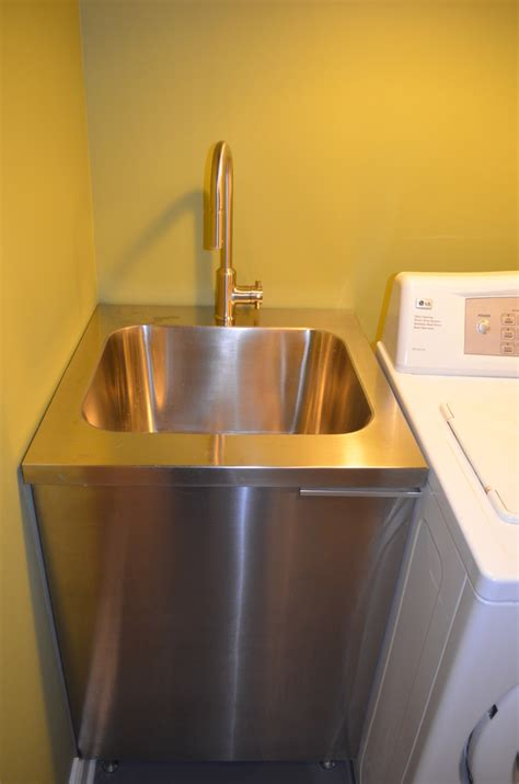 beautiful slop sink in basement contemporary with garage