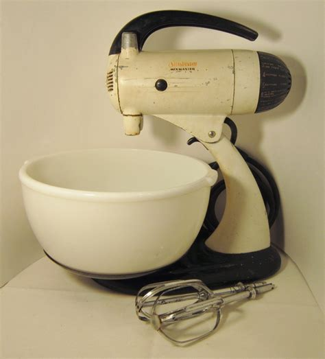 Sunbeam Mixmaster Model 9, Made in USA 1947, and 50