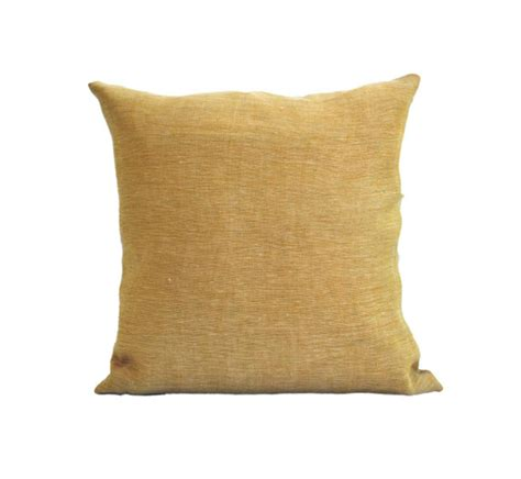 light yellow throw natural linen pale yellow pillow cushion with zipper pale