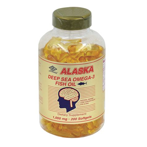 Alaska Sea Fish Omega 1000 Mg alaska sea fish 200 softgels 1 000 mg nu health products