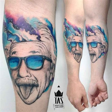 einstein tattoo albert einstein design on arm arm tattoos