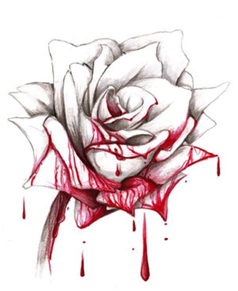 bloody rose tattoo bleeding drawing you can always paint the white