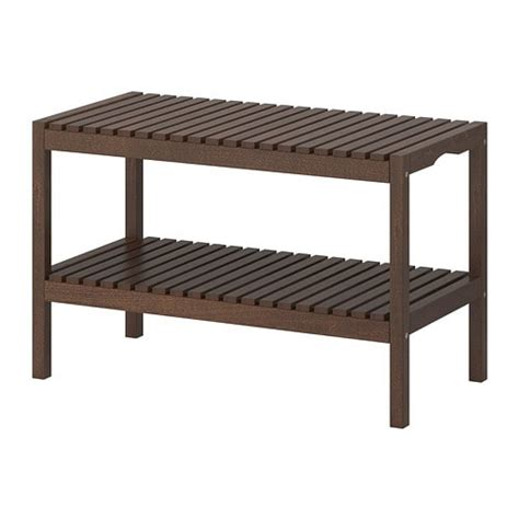 Ikea Bathroom Bench | molger bench dark brown ikea