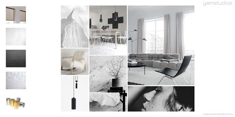 Black And White Bathroom Design by Yam Studios Mood Boards Interior Design