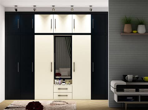 Kitchen Modular Designs Mirari Straight Wardrobe India Homelane