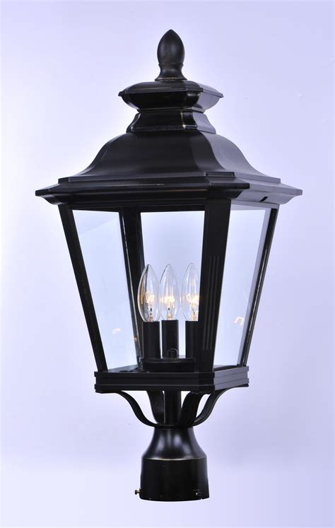 Outdoor Pole Lighting Knoxville 3 Light Outdoor Post Outdoor Pole Post Mount Maxim Lighting